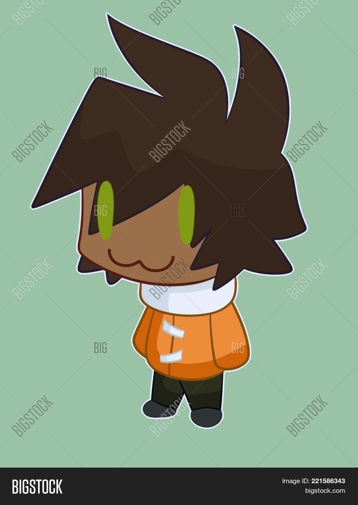 Chibi anime boy he is anime child happy of life