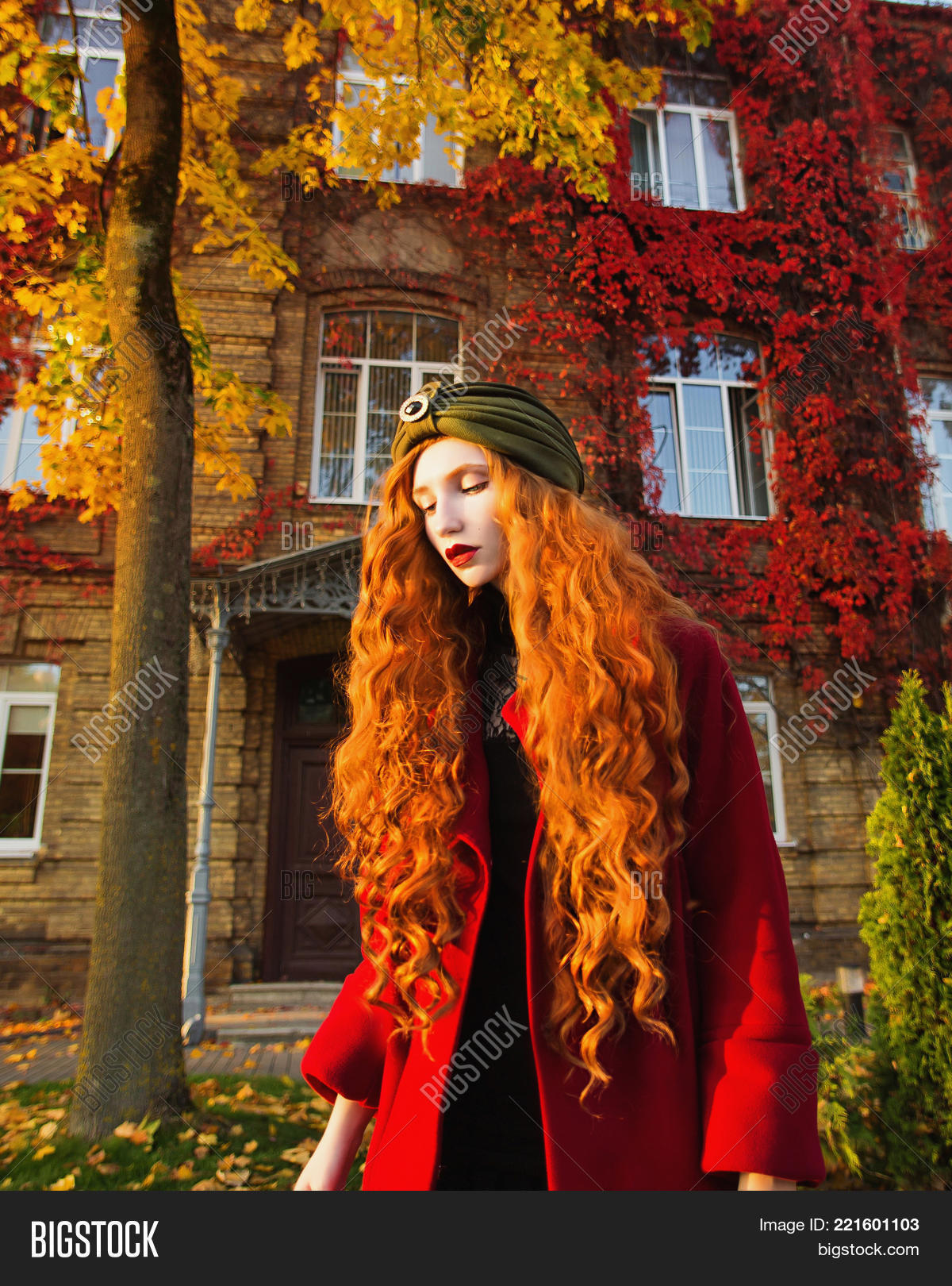 Red Haired Woman Long Image Photo Free Trial Bigstock