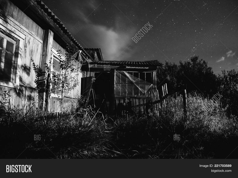The beautiful night scenery black and white art monochrome photography