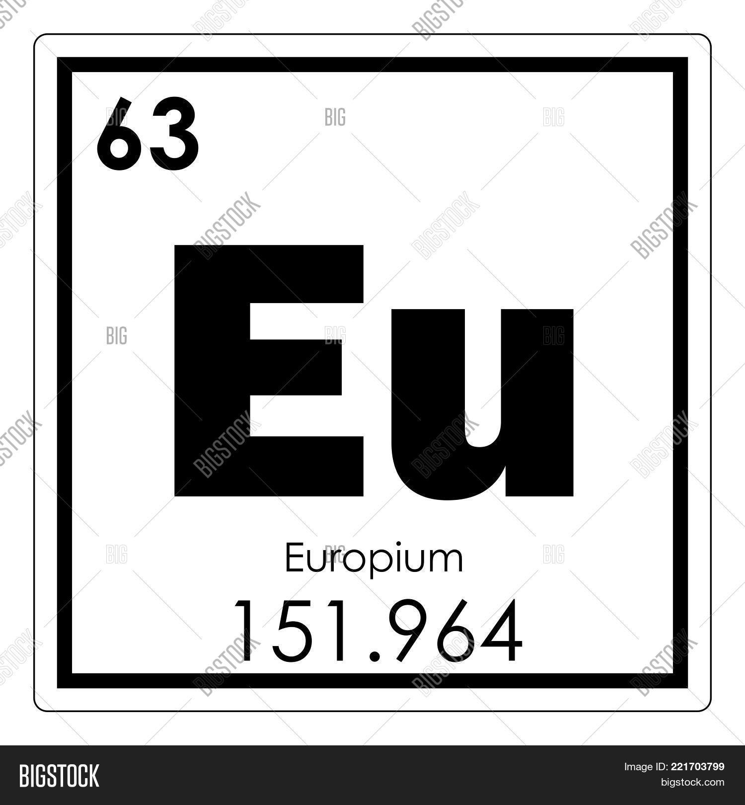 Europium Chemical Image Photo Free Trial Bigstock