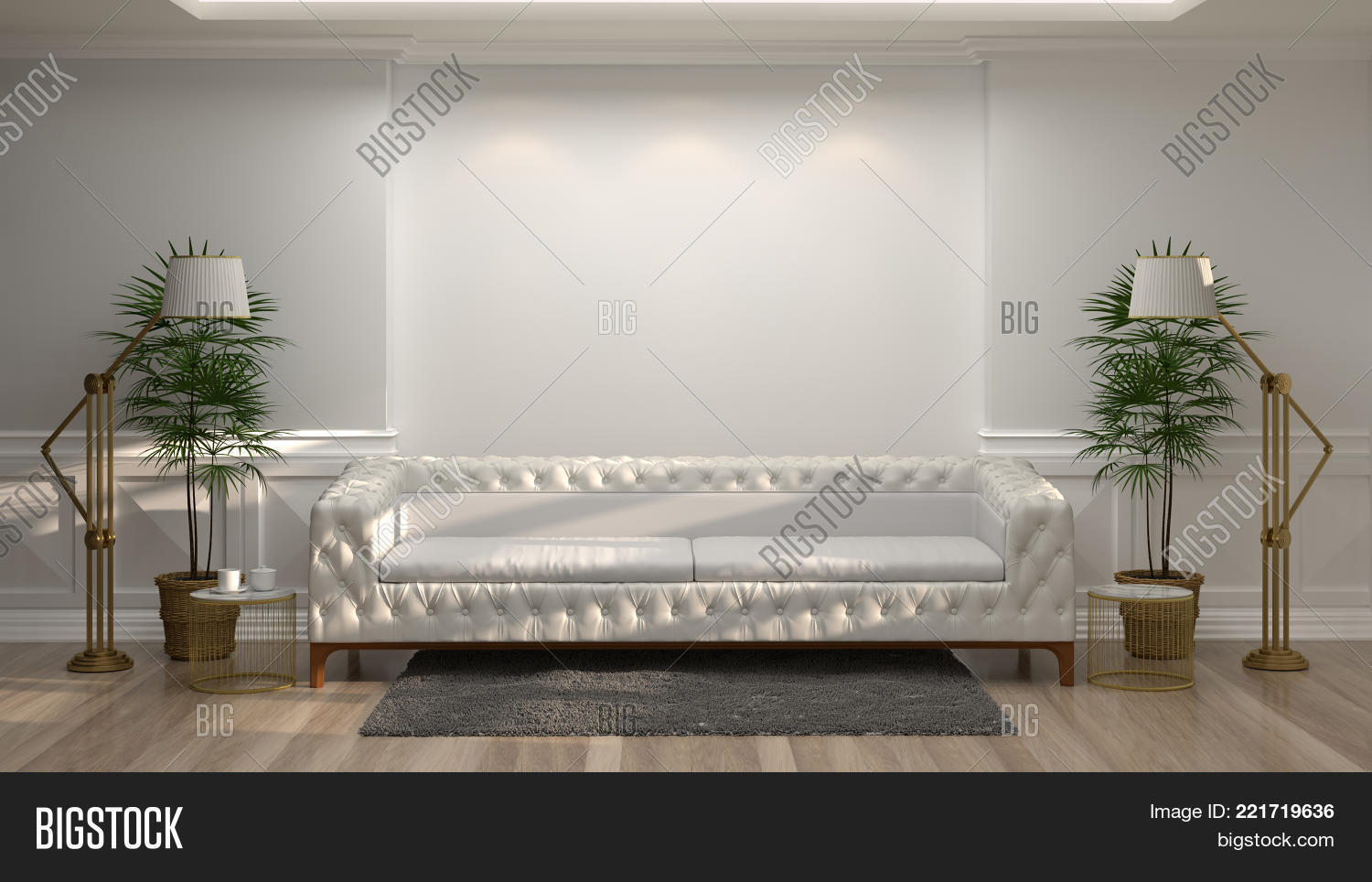 Awesome White Sofa Front Empty Image Photo Free Trial Bigstock Short Links Chair Design For Home Short Linksinfo