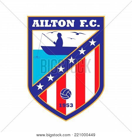 Football team logo. The name and color - fictitious, Here can be name of your team.
