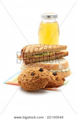Apple Juice, Cookies, Sandwiches