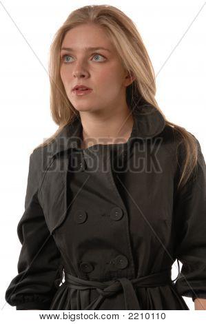 Women In Rain Coat