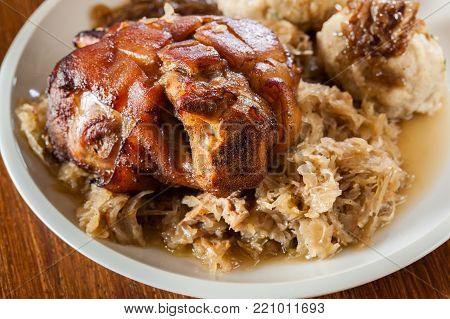 Pork Knuckle With Fried Sauerkraut