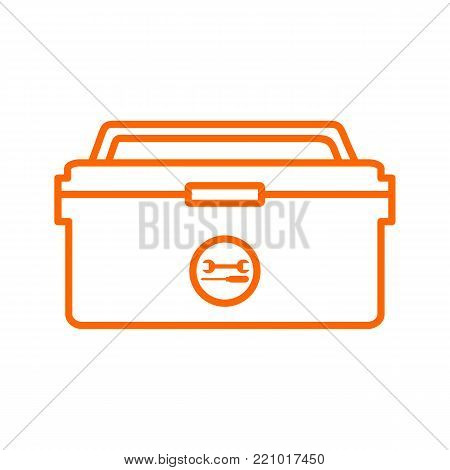 Outline Tool Box Storage Drawing Vector Illustration Graphic Design
