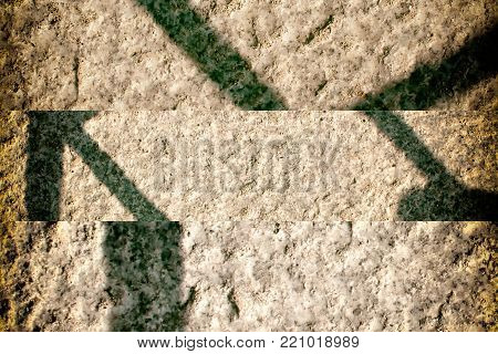 Grey wall stone grunge background, rock texture with shadow
