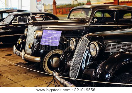 Moscow, Russia - July 13, 2013 - American car Packard 120 4dr Sedan made by 1937 from collection of the film studio
