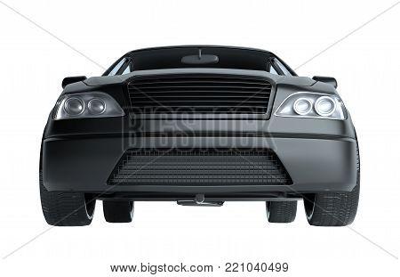 A CG render of a generic luxury sedan. 3d illustration