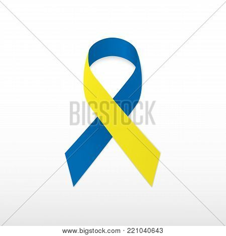 Issue logo loop symbolic conceptual aid problem attention to problem of people with Down syndrome.