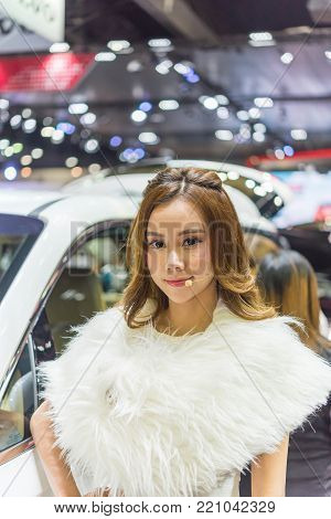 Pretty Lady In Car Show Event