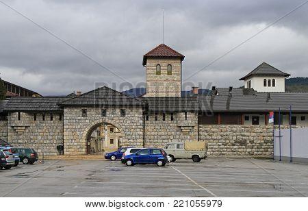 Andricgrad in Visegrad. Town is dedicated to Yugoslav novelist Ivan Andric