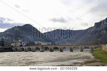 Mehmed Pasa Sokolovic Bridge in Visegrad, Bosnia and Herzegovina