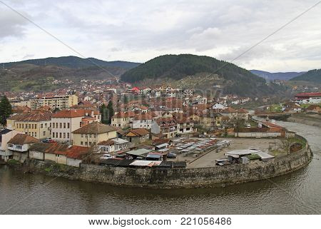 the small nice city Visegrad, Bosnia and Herzegovina