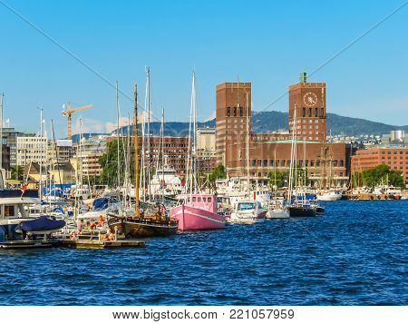 Oslo Harbour And Aker Brygge Area