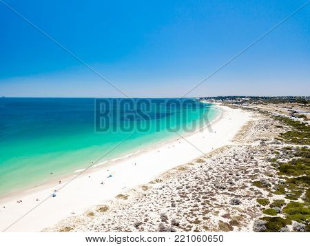 A beautiful summer day at Leighton Beach, south of Cottesloe, in Perth, Western Australia, Australia. poster