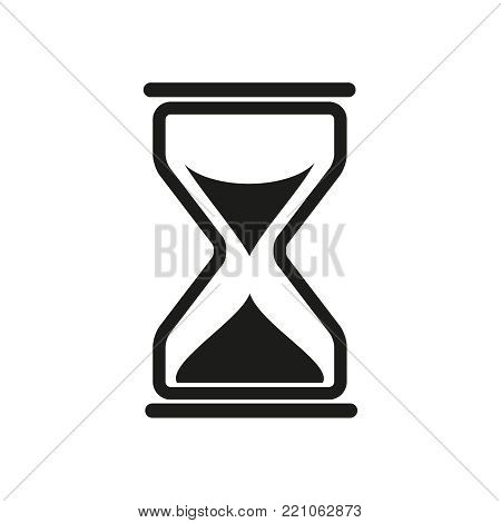 Sand times icon on the white background