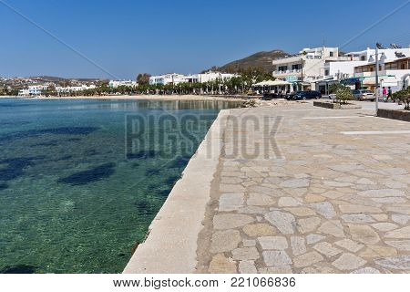 PAROS, GREECE - MAY 3, 2013: Port of town of Parakia, Paros island, Cyclades, Greece