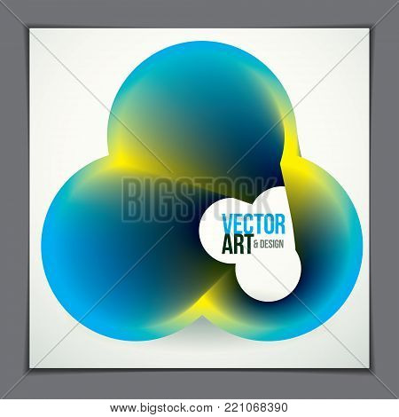 Vector of modern abstract shape, 3d flower shape gradient. 3d flower shape, vector abstract art. Perfect for gift card,cover,poster or brochure. Bright color wave dimensional object.
