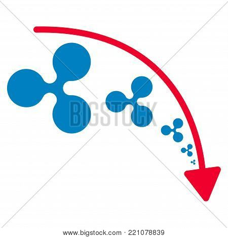 Ripple Reduce Trend flat vector pictogram. An isolated icon on a white background.