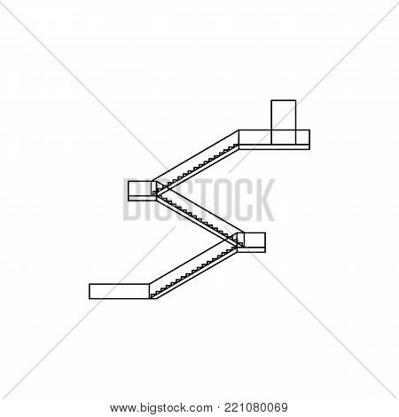 fire escape icon. Premium quality graphic design. Signs, symbols collection, simple icon for websites, web design, mobile app on white background