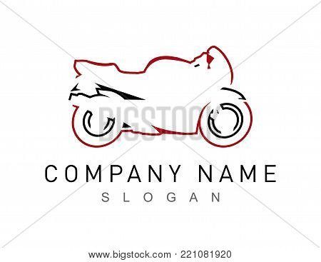 motorcycle sport logo on a white background