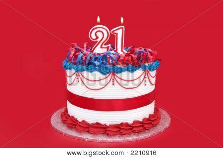 Twenty-First Birthday Cake