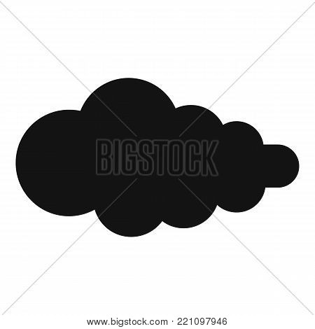 Cloud with fallout icon. Simple illustration of cloud with fallout vector icon for web