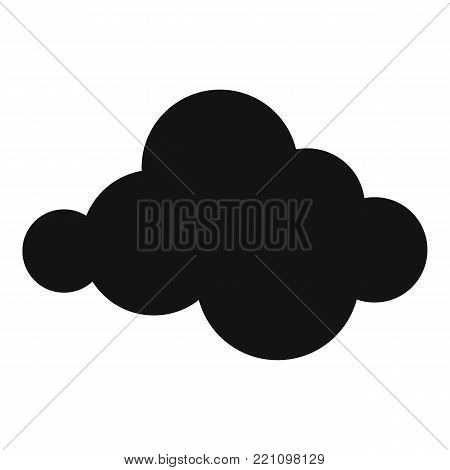 Moving cloud icon. Simple illustration of moving cloud vector icon for web