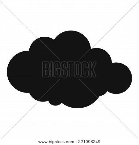 Rare cloud icon. Simple illustration of rare cloud vector icon for web