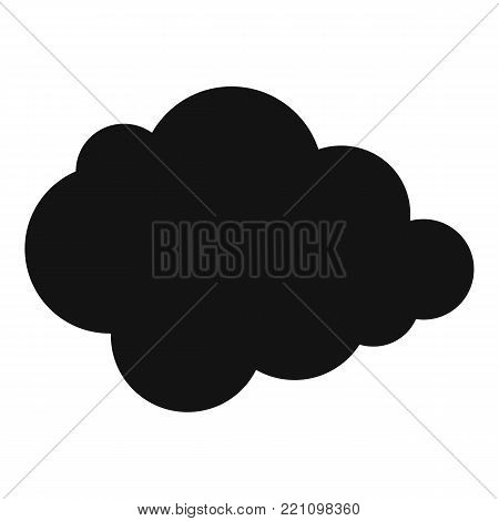 Polar cloud icon. Simple illustration of polar cloud vector icon for web