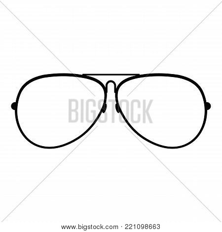 Eyewear icon. Simple illustration of eyewear vector icon for web