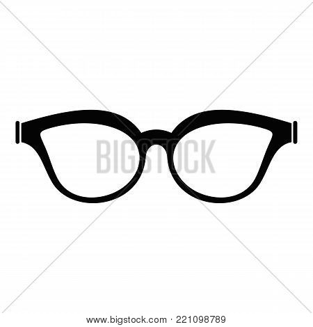Myopic spectacles icon. Simple illustration of myopic spectacles vector icon for web