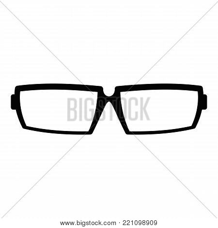Sport eyeglasses icon. Simple illustration of sport eyeglasses vector icon for web