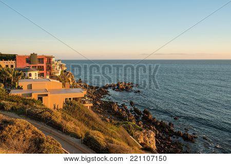 Expensive luxurious ocean side homes at Corona del Mar near Newport Beach, California