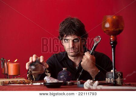 Evil Man With Sceptre