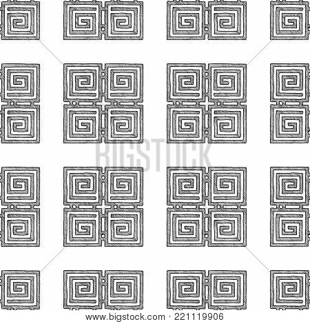 Seamless pattern with Ancient Greek ornament, meander.