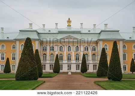 Saint Petersburg, Russia - Circa June 2017: Peterhof or Petergof Palace in Saint-Petersburg, Russia