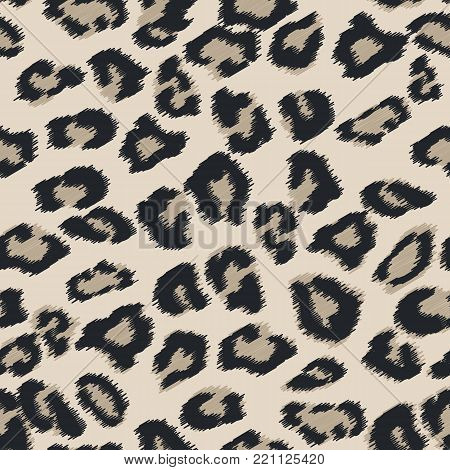 Seamless leather texture. Cheetah fur texture. Snow Leopard pattern, animal safari skin texture. Animal print. Vector illustration. Design elements for projects, fabrics, prints, wallpaper, wrapping