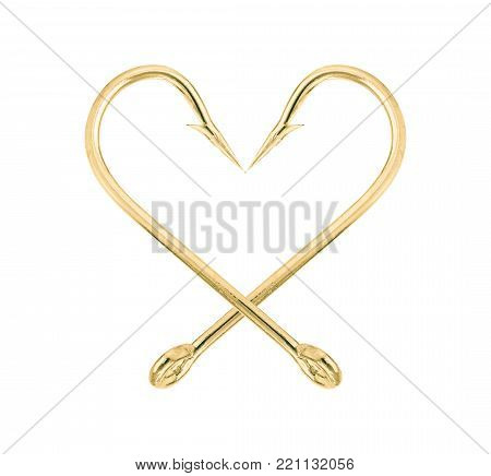 Fish Hook Isolate On A White Background