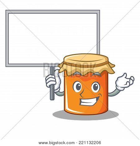 Bring board jam character cartoon style vector illustration
