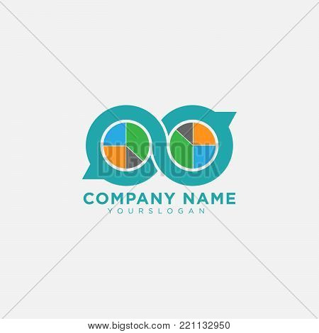 Chat logo Icon in flat style. Communication chat bubble symbol. Vector illustration. Speech bubbles icon. Line chat symbol for website design, mobile application, ui.