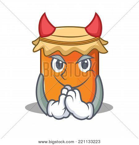 Devil jam mascot cartoon style vector illustration