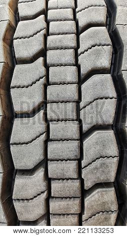 Se,i truck tire close up with treads