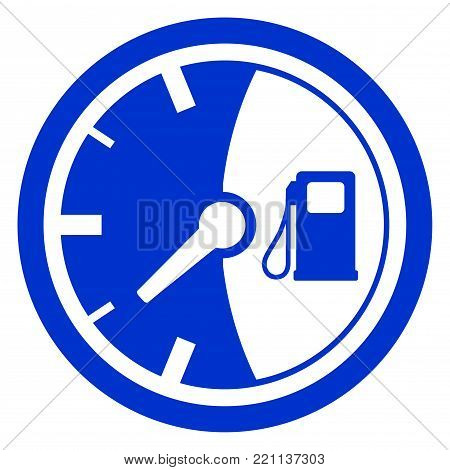 Illustration of fuel gauge circle icon concept
