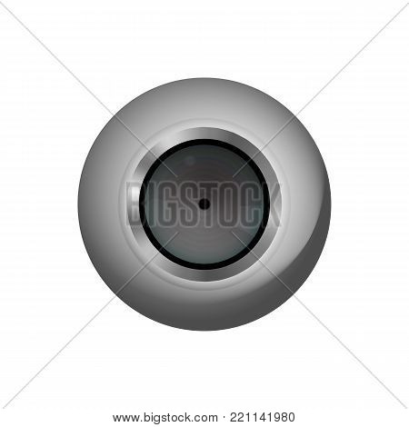 Optical web cam. For pc. Vector illustration.