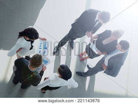 Successful busines team discussing  in a modern office
