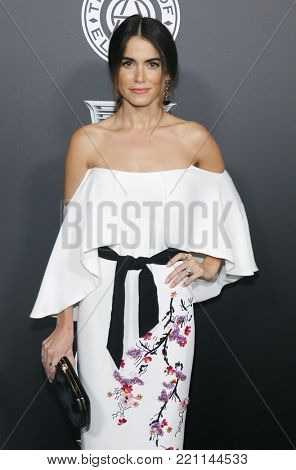 Nikki Reed at the Art Of Elysium's 11th Annual Heaven Celebration held at the Barker Hangar in Santa Monica, USA on January 6, 2018.