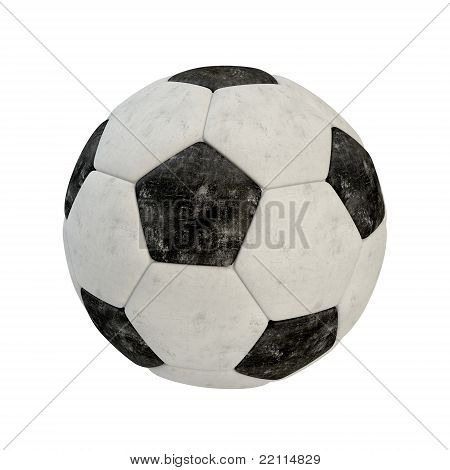 Scratched soccer ball