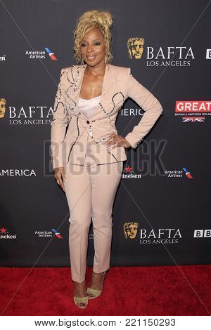 LOS ANGELES - JAN 6:  Mary J Blige at the 2018 BAFTA Tea Party Arrivals at the Four Seasons Hotel Los Angeles on January 6, 2018 in Beverly Hills, CA